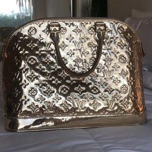 Louis Vuitton GM Alma Mirror Gold